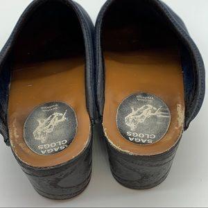 Saga Clogs Shoes - SAGA Swedish Clogs mules navy blue, 41.
